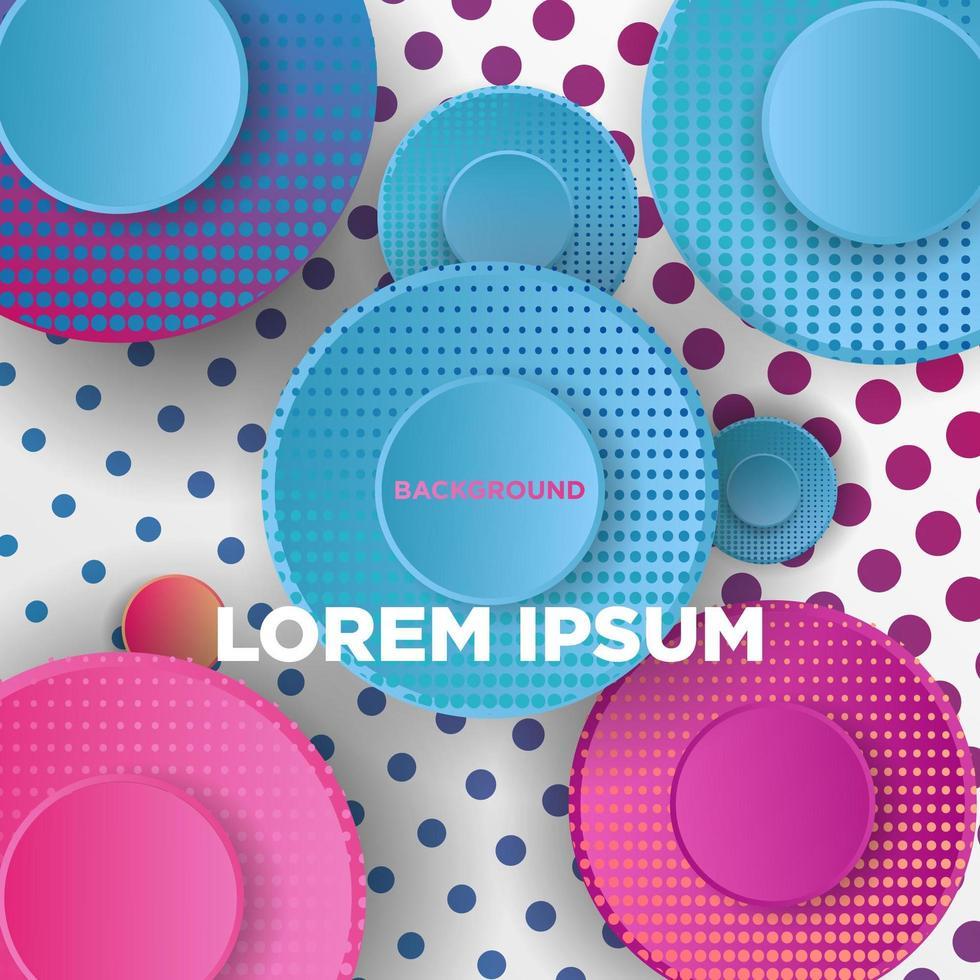 kleurrijk geometrisch ontwerp met cirkels en stippen vector