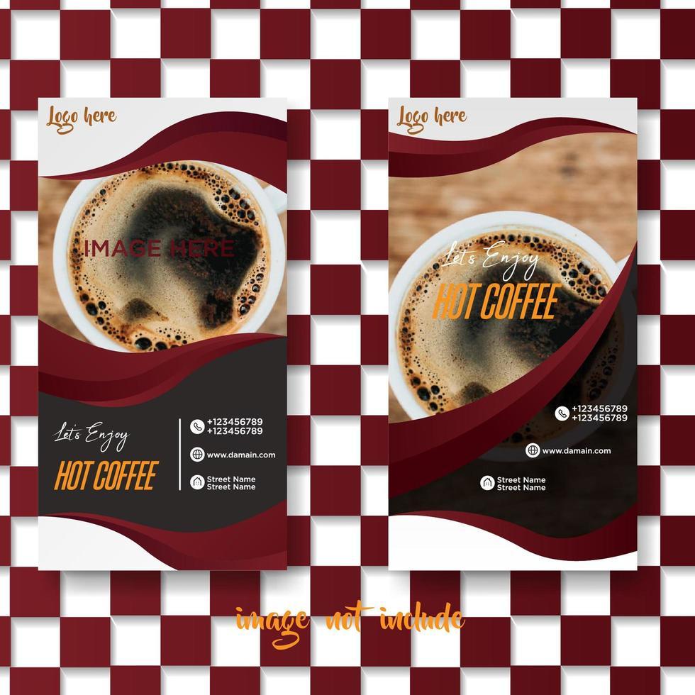 geruit koffie café brochureontwerp vector