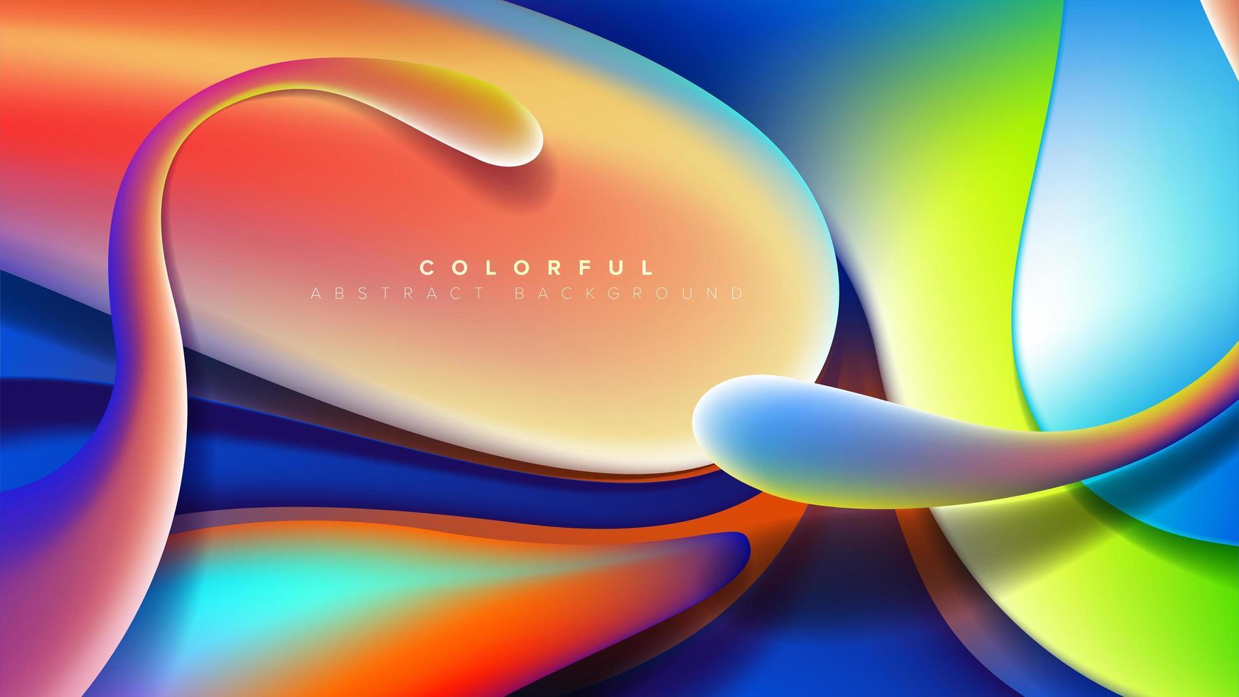 abstract ontwerp met vrije vorm vector