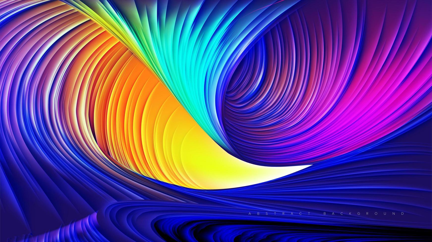 abstract ontwerp van de regenboogcanion vector