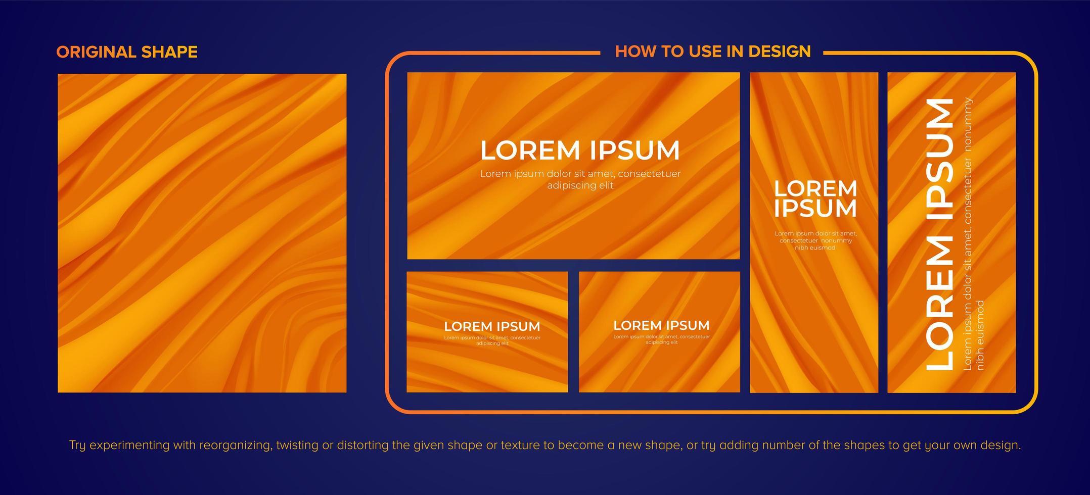tweekleurig oranje canyon design pack vector