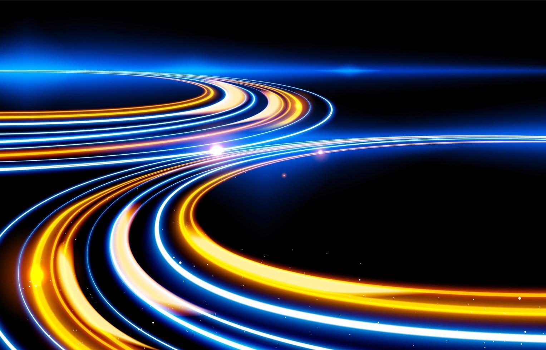 langzame sluitertijd licht paden effect ontwerp vector