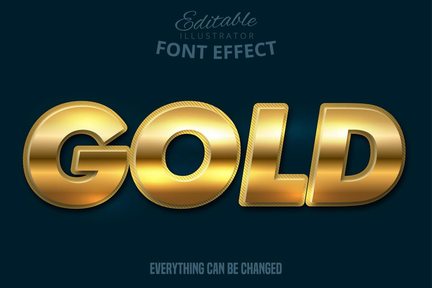 metallic vet goud teksteffect vector