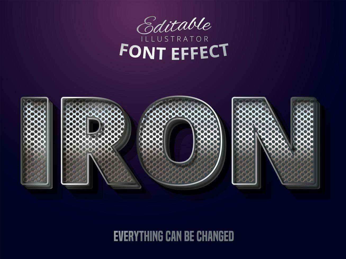 metallic zilver teksteffect, glanzende alfabetstijl vector