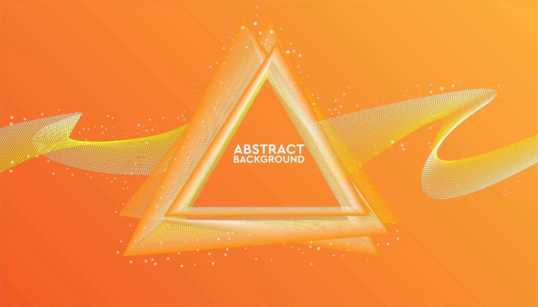 driehoekig geometrisch abstract ontwerp vector