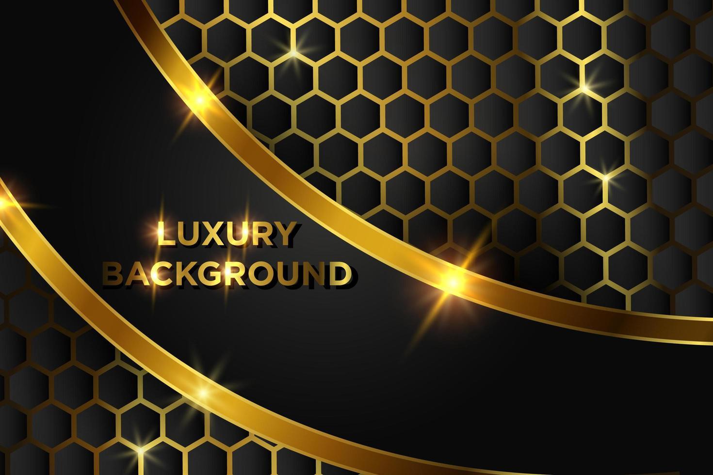 gouden luxe achtergrondontwerp vector