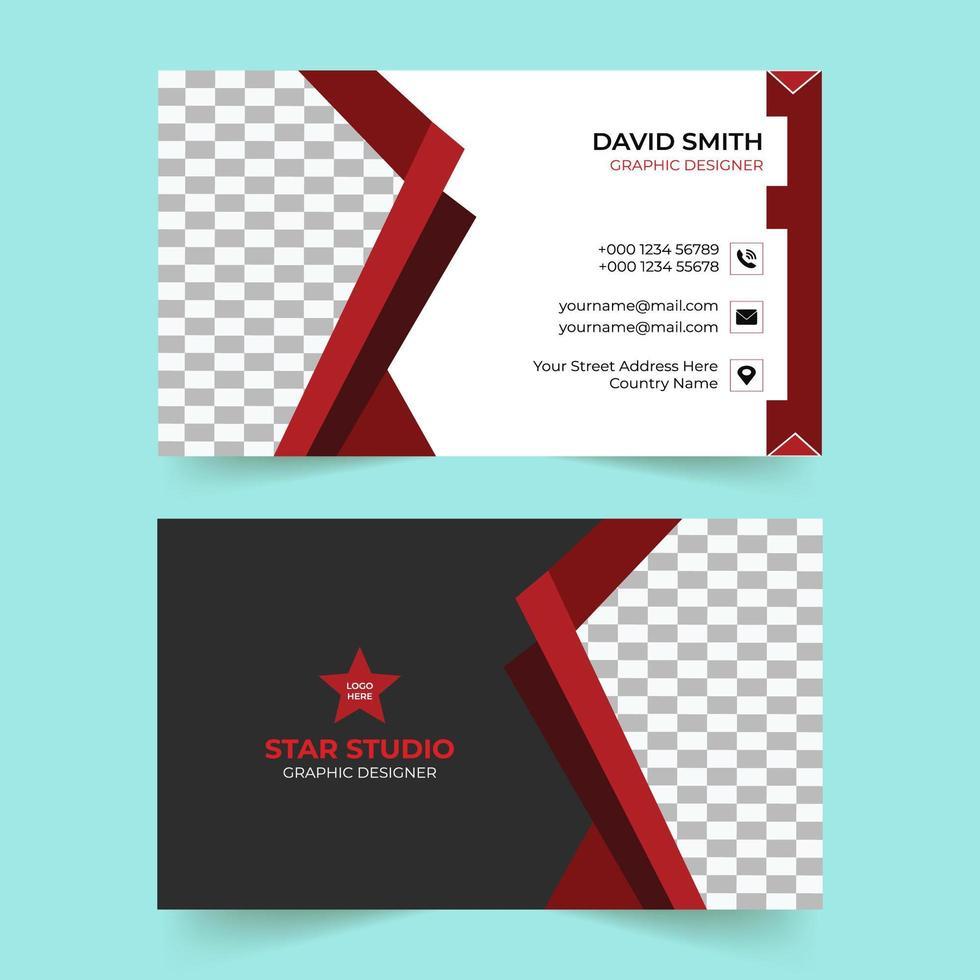 creatieve rode zakelijke visitekaartjesjabloon vector