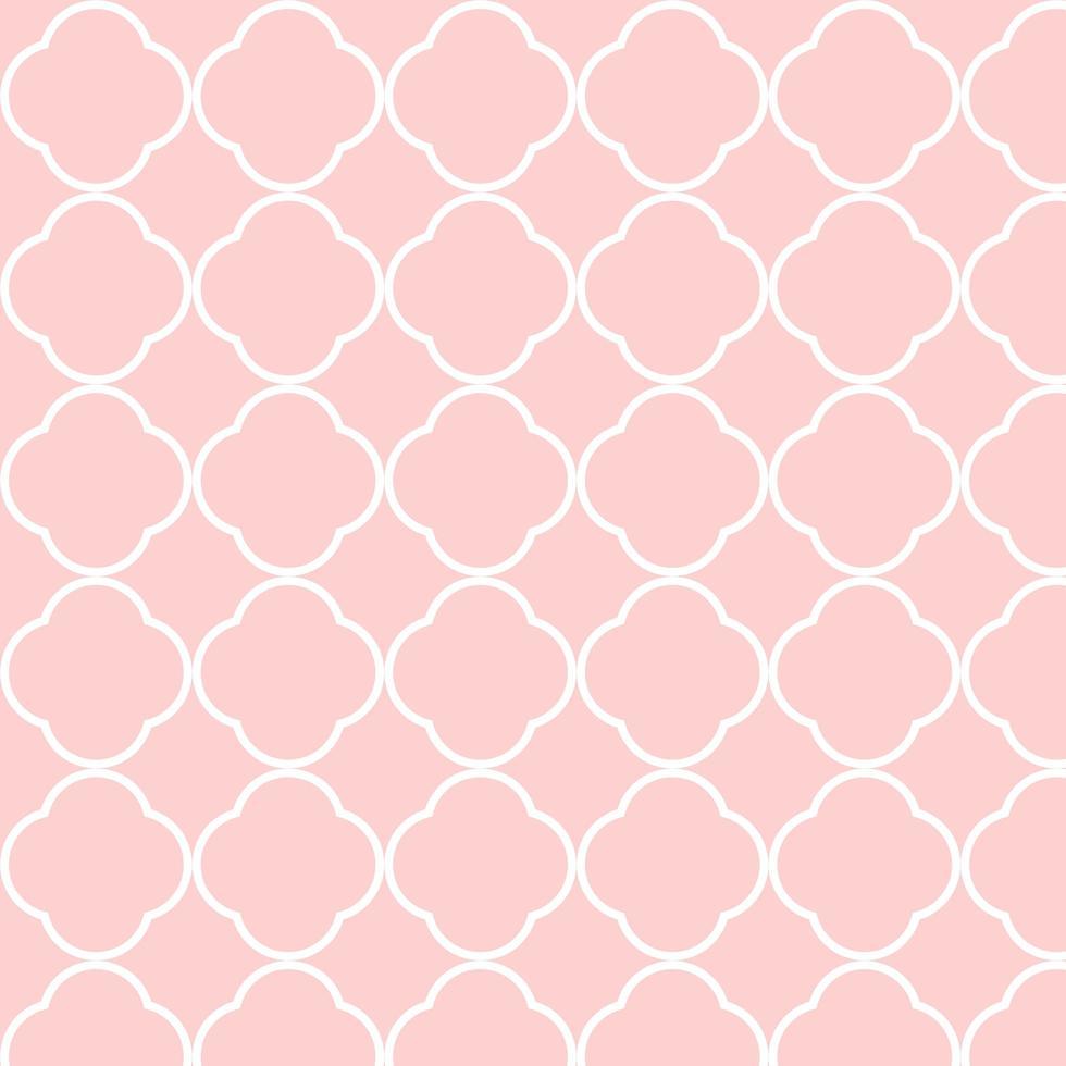 naadloos roze wit verbindend vormenpatroon vector
