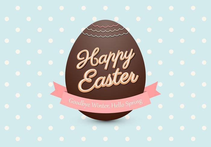 Chocolade Easter Egg Vector