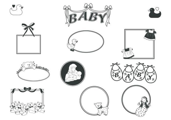 retro babyframes vector pack