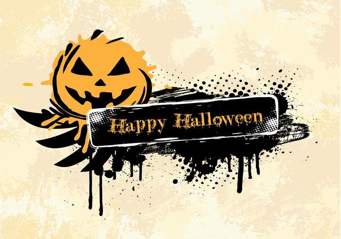 Grunge Halloween vector backgound