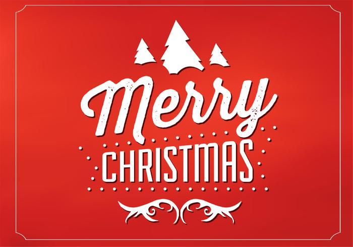 Rode Vrolijke Kerstmis Vector Achtergrond