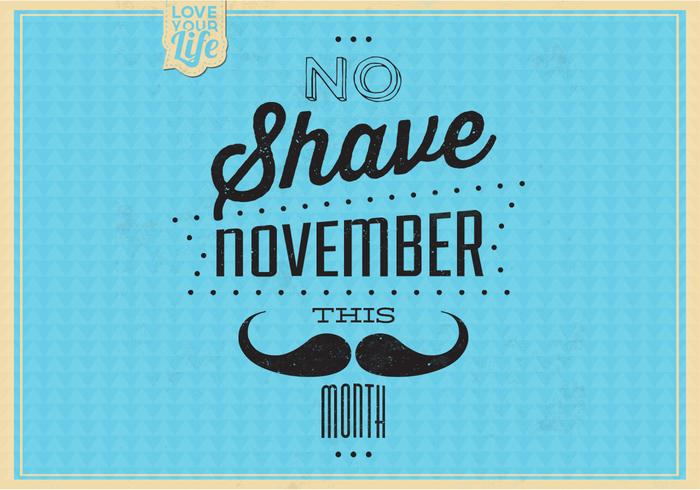 Vintage No Shave November Vector Achtergrond