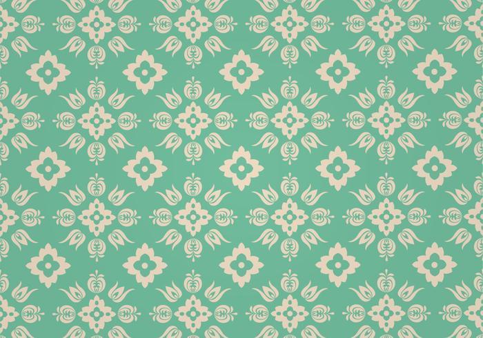 Groen bloemen vector patroon