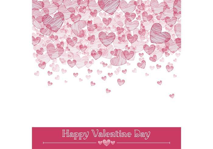 Valentijnsharten Vector Achtergrond