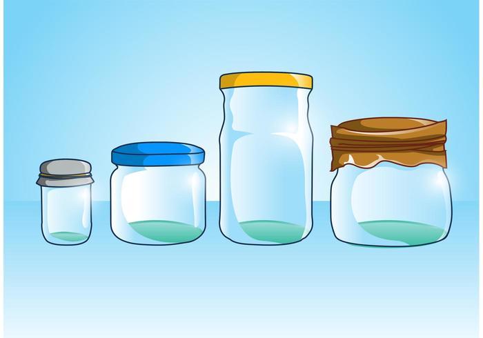 Mason jar-vectoren vector