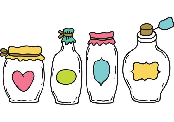 Gratis Cartoon Mason Jar Vector