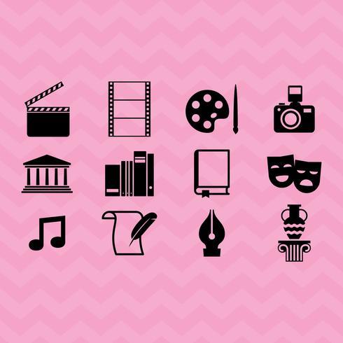 Vector en iconen van kunst en cultuur