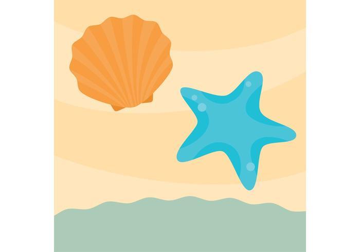Sea Shell Vector op het zand