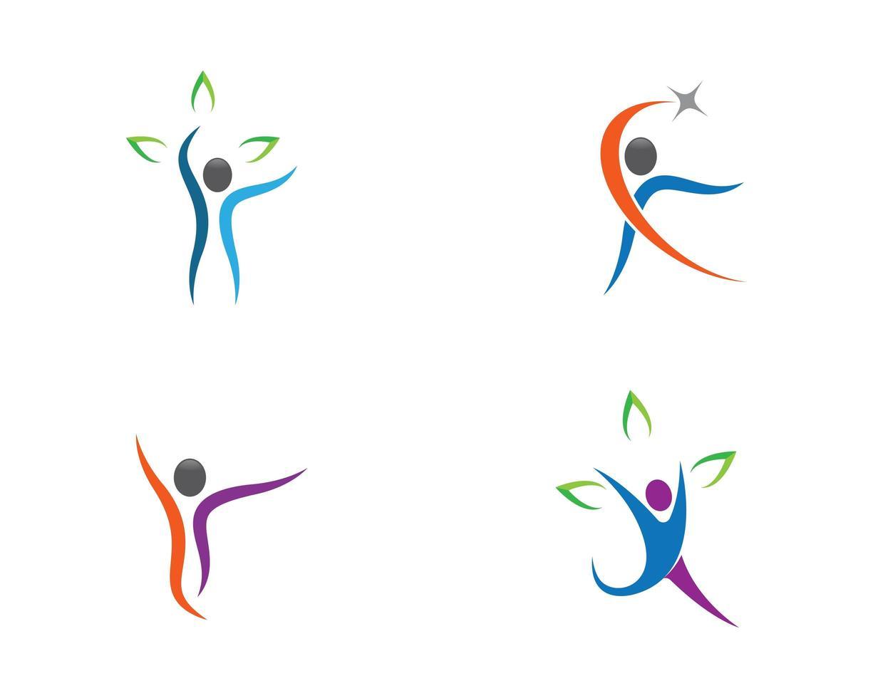 menselijke gezondheid symbool icon set vector