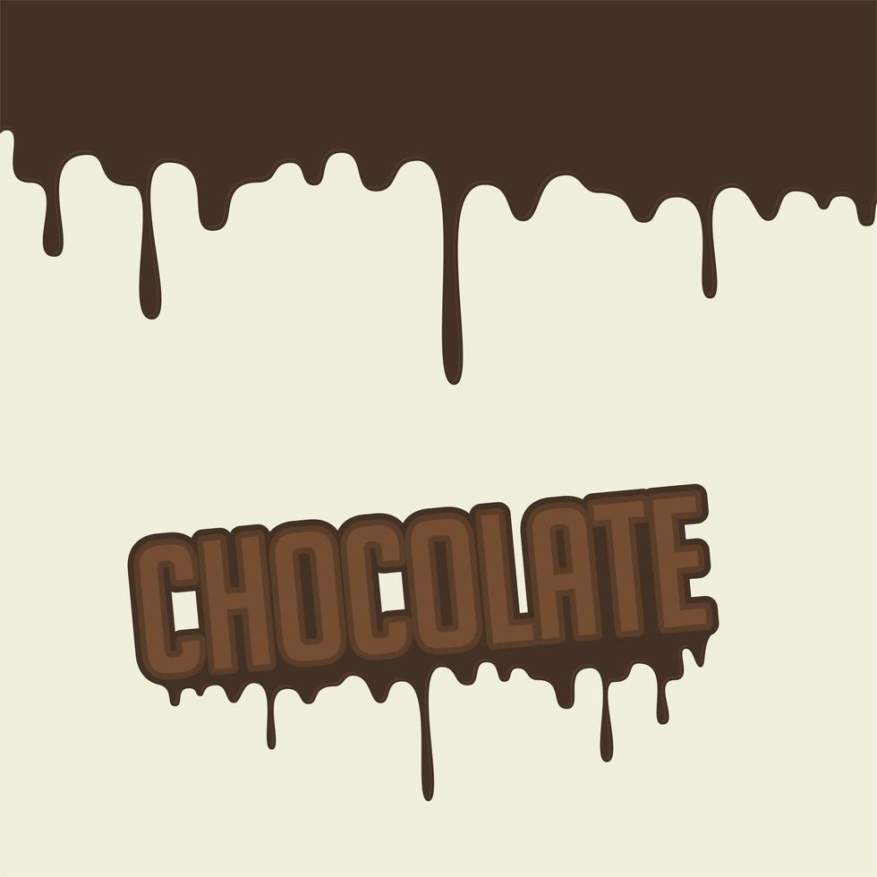 smeltende '' chocolade '' letters vector