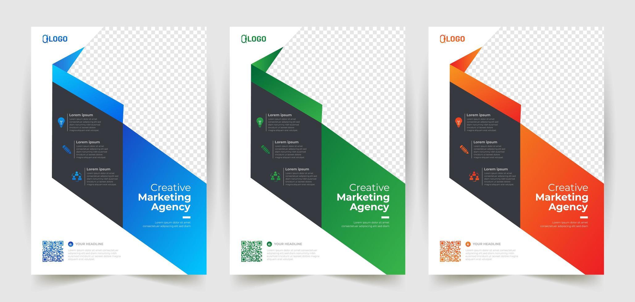 diagonale vorm gradiënt flyer ontwerp lay-out sjablonen vector