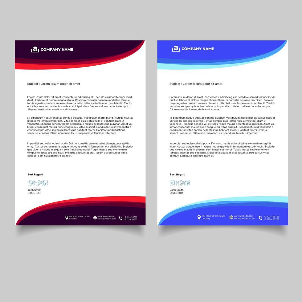 minimaal ontwerp zakelijke briefhoofdsjabloon vector