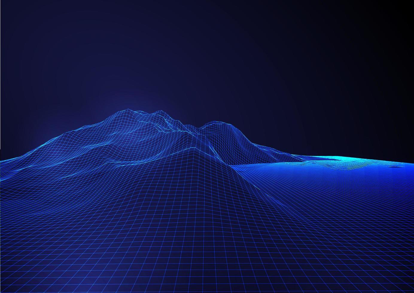 abstracte futuristische blauwe draadframe achtergrond vector