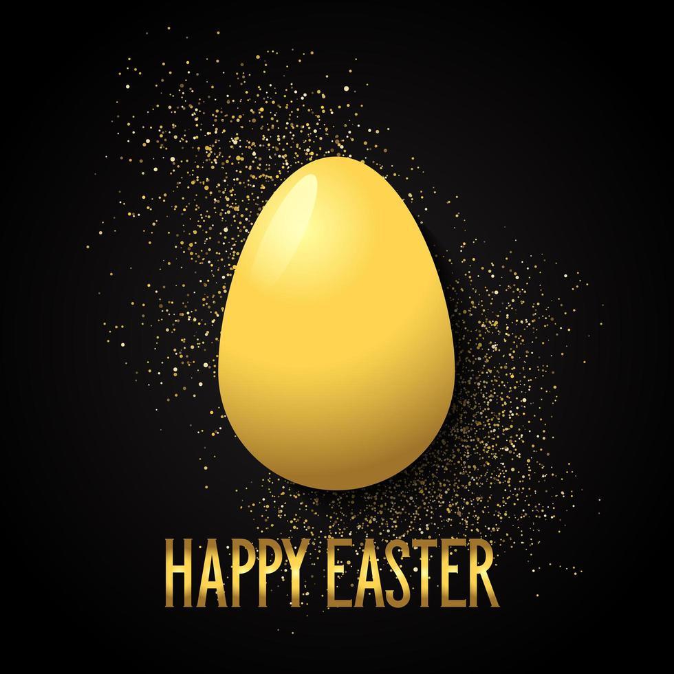 Pasen-achtergrond met gouden ei vector