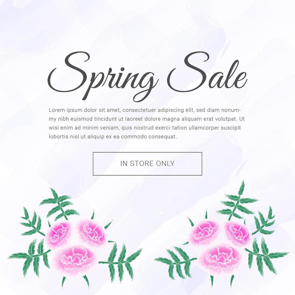 lente rose bloem verkoop banner vector