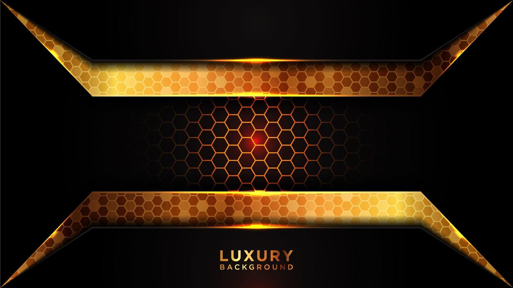 moderne donkere en gouden overlap luxe achtergrond vector