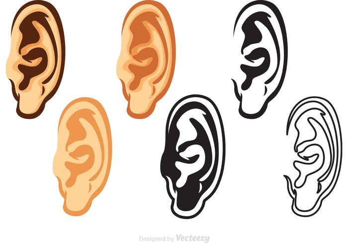 menselijk oor vectoren pack