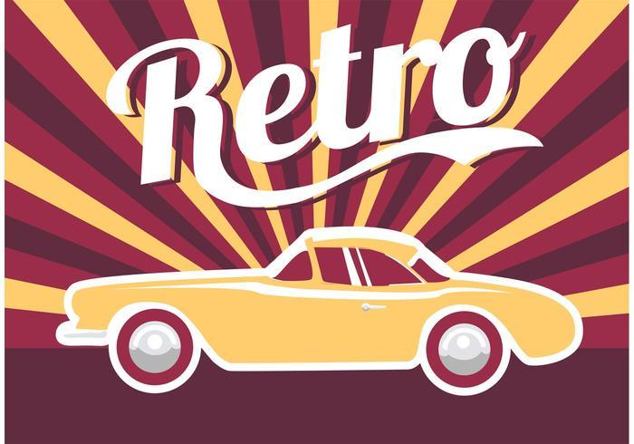 Poster Auto Retro vector