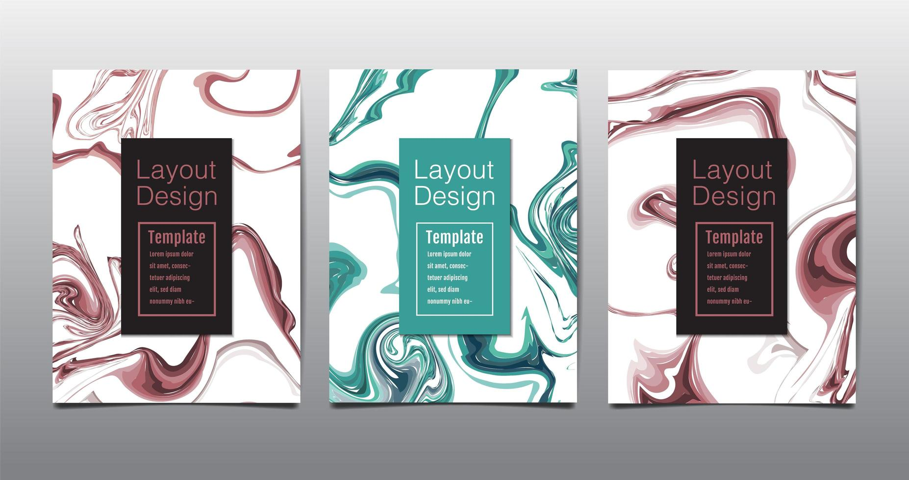 moderne a4 abstracte marmeren poster vector