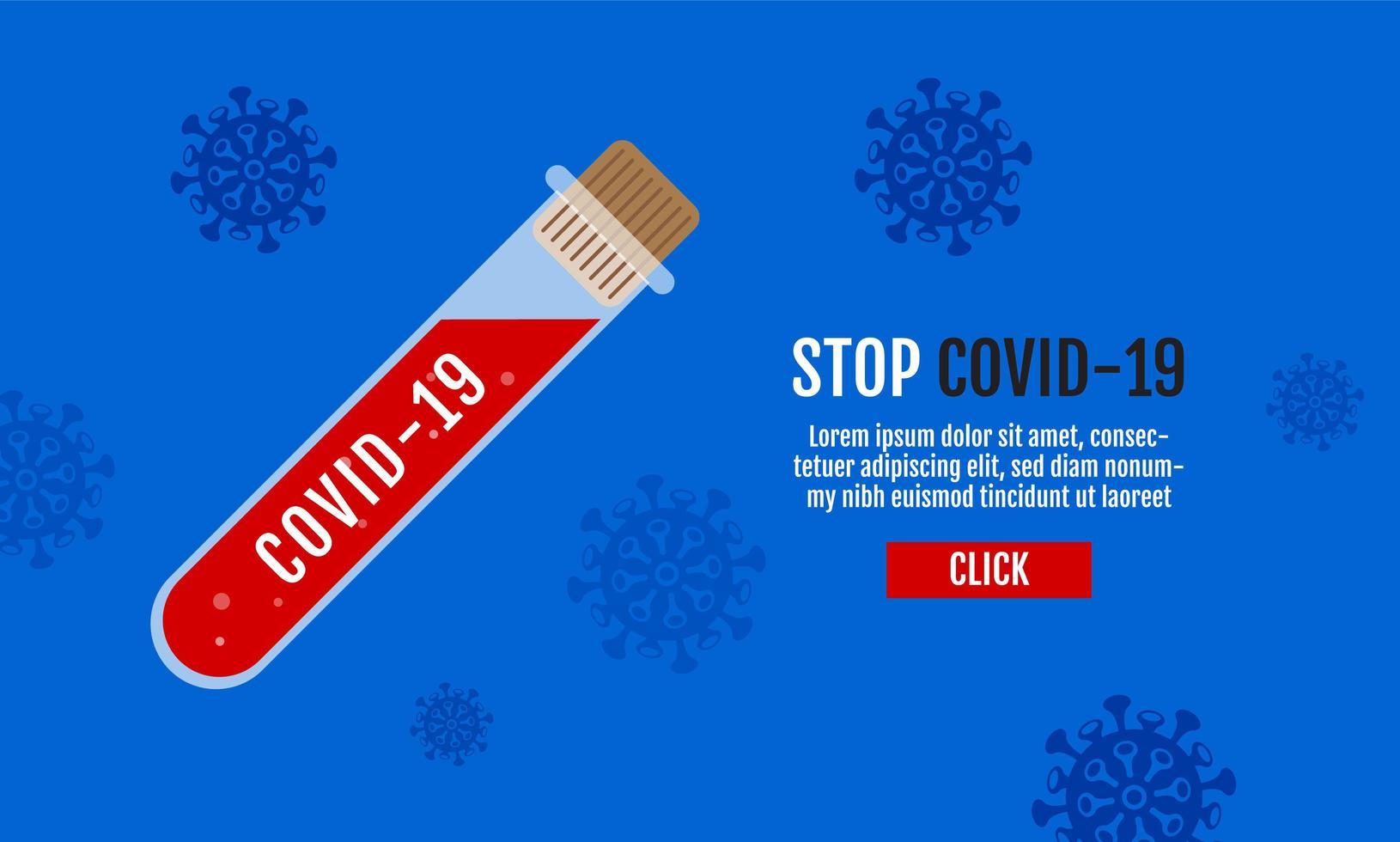 covid-19 vaccin ontwerp poster vector