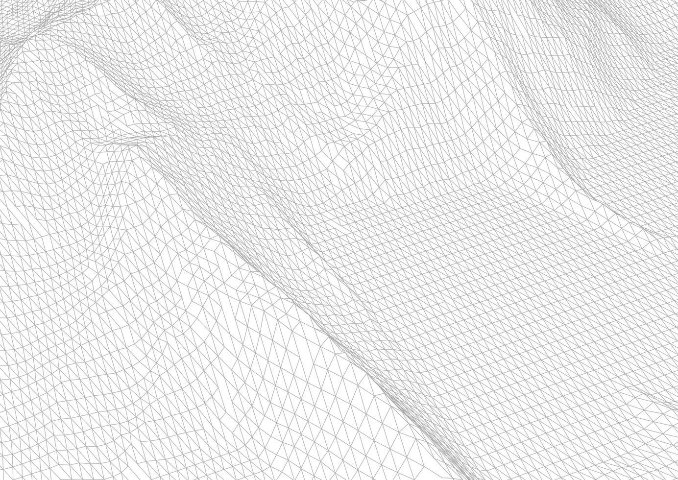 abstract draadframe terrein in zwart en wit vector