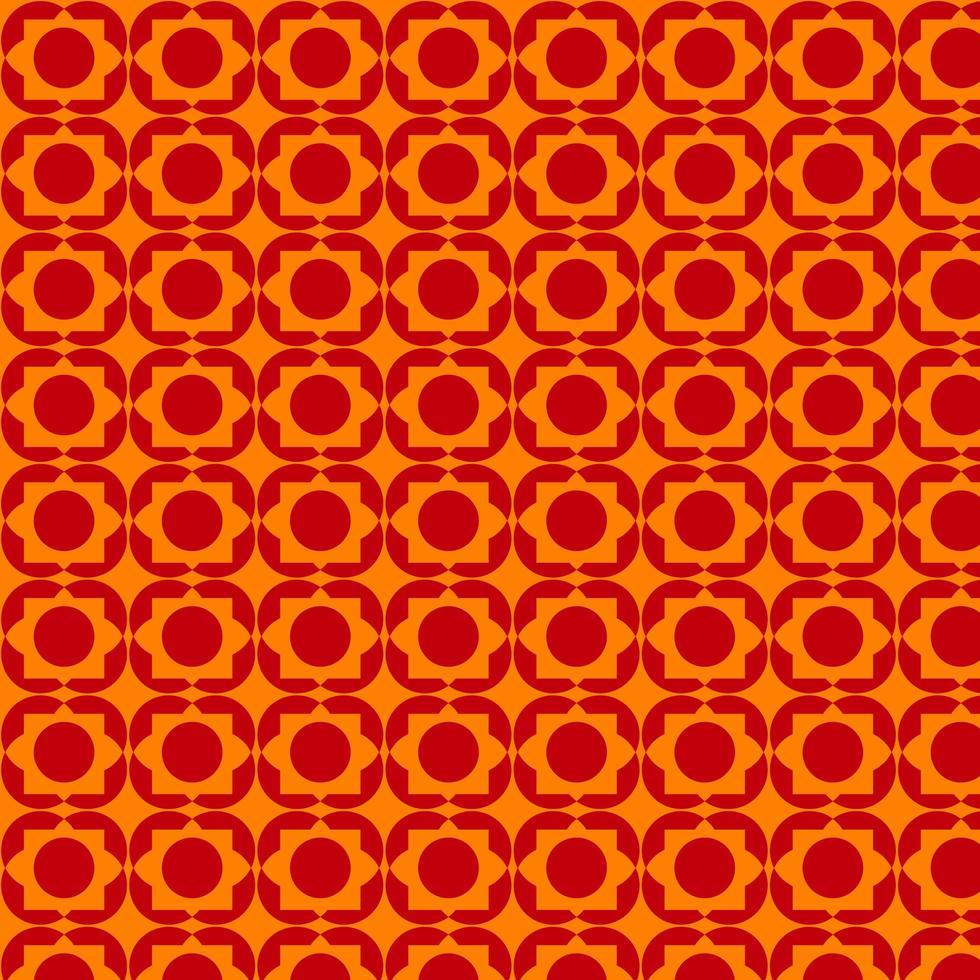 helder oranje en rood retro vormpatroon vector