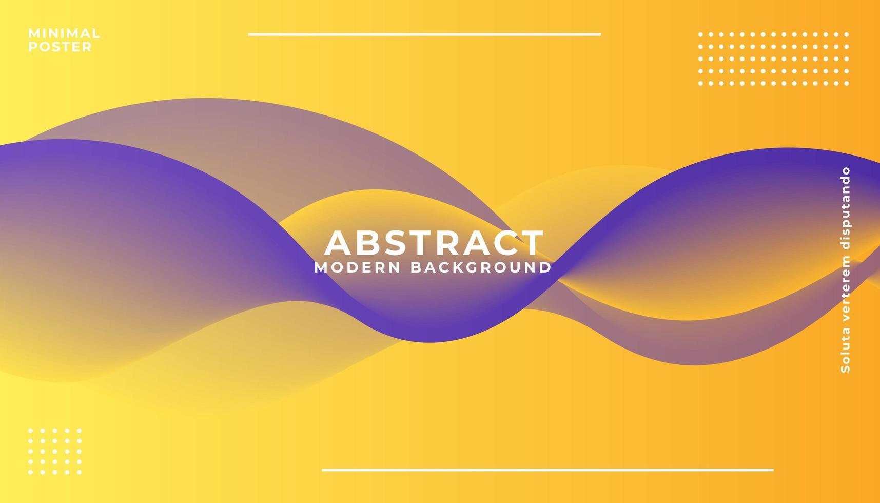 dynamische paarse en gele golf achtergrond vector