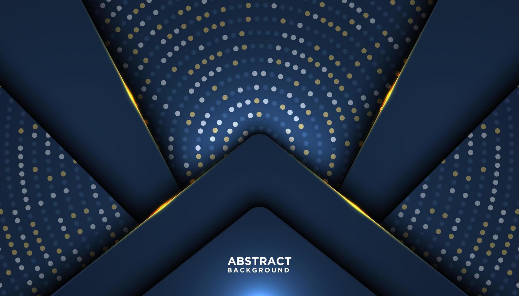 donkerblauwe luxe achtergrond met overlappende vormen vector