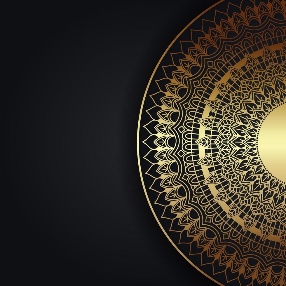 decoratieve achtergrond met gouden mandala vector