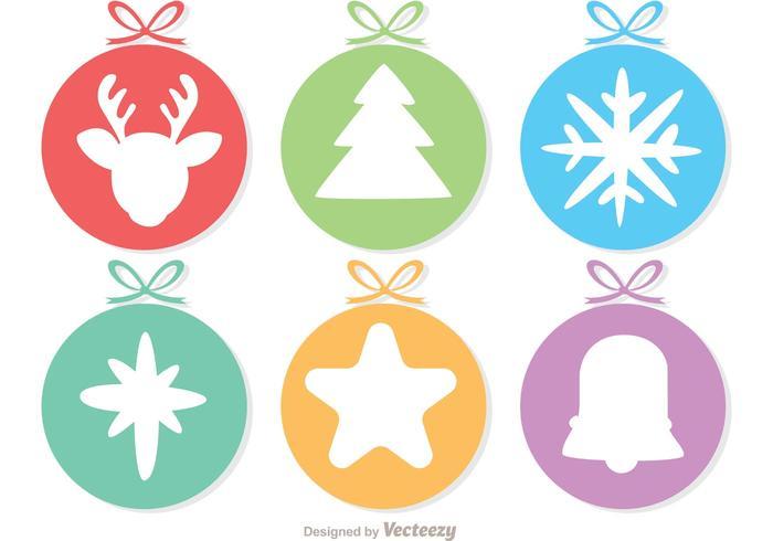 Cirkel Cristmas Ornament Decoratie Vector Pack