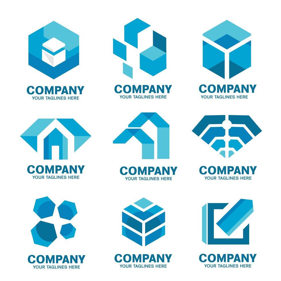 moderne zakelijke logo iconen collectie vector