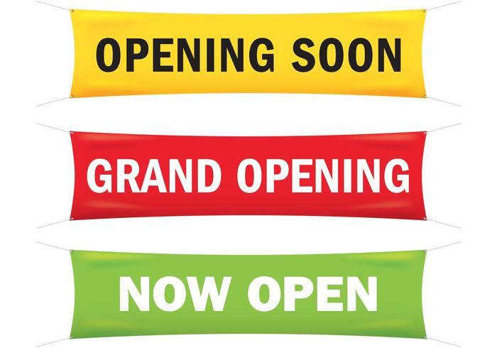 Grand Opening Banner Vectoren