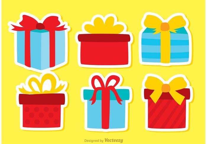 Gift Box Verjaardag Icon Vectors Pack