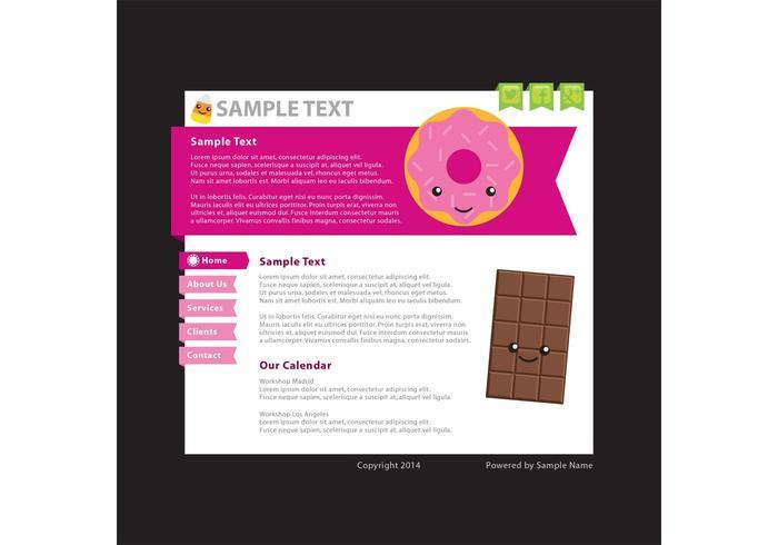 Voedsel blog vector sjabloon 3