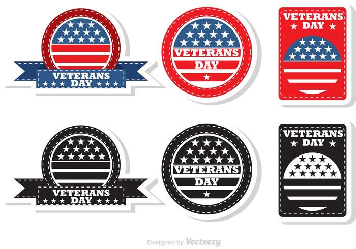 Veteran's Day Badges vector