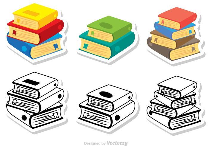 Stapel boekenvectoren vector