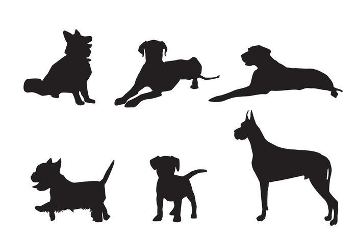 Gratis Vector Dog Silhouette Vectoren