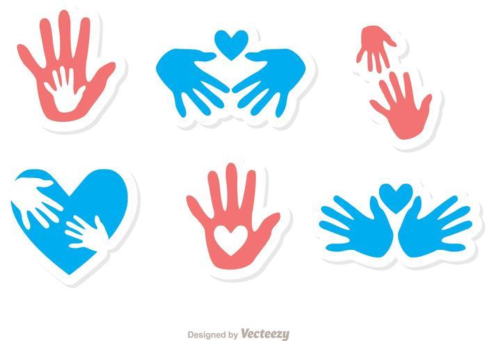 Helpende Hand Pictogrammen Vector Pack