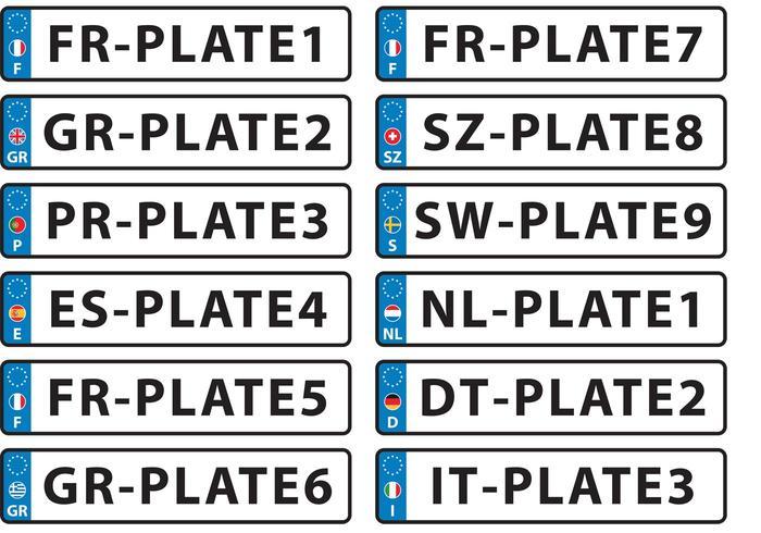 Europese vectorplaat vectoren